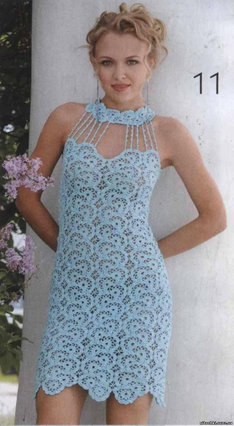 Вязание: Платья летние Нина Клибанская Простые схемы